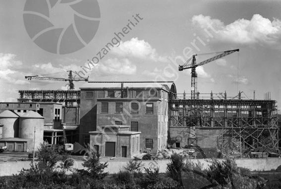 LD L677 - L677 - Cantiere costruzione Cementificio Santarcangelo di Romagna - 1953